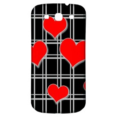 Red Hearts Pattern Samsung Galaxy S3 S Iii Classic Hardshell Back Case by Valentinaart