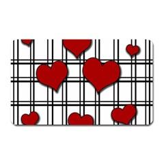 Hearts Pattern Magnet (rectangular) by Valentinaart
