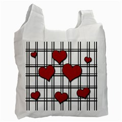 Hearts Pattern Recycle Bag (two Side)  by Valentinaart