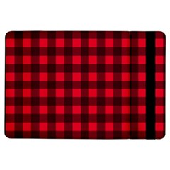 Red And Black Plaid Pattern Ipad Air Flip by Valentinaart