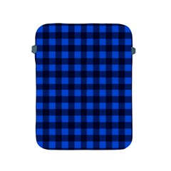 Blue And Black Plaid Pattern Apple Ipad 2/3/4 Protective Soft Cases by Valentinaart