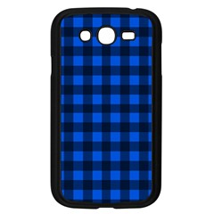 Blue And Black Plaid Pattern Samsung Galaxy Grand Duos I9082 Case (black) by Valentinaart