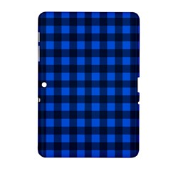 Blue And Black Plaid Pattern Samsung Galaxy Tab 2 (10 1 ) P5100 Hardshell Case  by Valentinaart