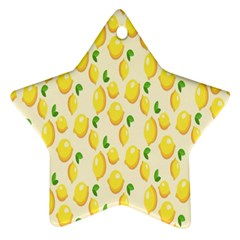 Pattern Template Lemons Yellow Star Ornament (two Sides)