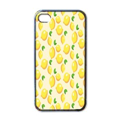 Pattern Template Lemons Yellow Apple Iphone 4 Case (black)