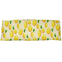 Pattern Template Lemons Yellow Body Pillow Case Dakimakura (two Sides)