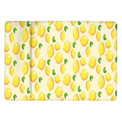 Pattern Template Lemons Yellow Samsung Galaxy Tab 10 1  P7500 Flip Case by Nexatart
