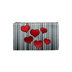 Valentines Day Pattern Cosmetic Bag (small)  by Valentinaart