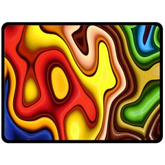 Pattern Background Structure Double Sided Fleece Blanket (large)
