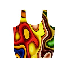 Pattern Background Structure Full Print Recycle Bags (s)