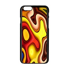 Pattern Background Structure Apple Iphone 6/6s Black Enamel Case by Nexatart