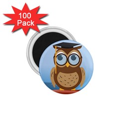 Read Owl Book Owl Glasses Read 1 75  Magnets (100 Pack)  by Nexatart