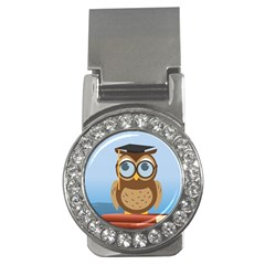 Read Owl Book Owl Glasses Read Money Clips (cz)  by Nexatart