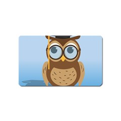 Read Owl Book Owl Glasses Read Magnet (Name Card) by Nexatart