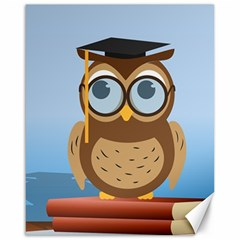 Read Owl Book Owl Glasses Read Canvas 16  X 20