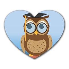 Read Owl Book Owl Glasses Read Heart Mousepads by Nexatart