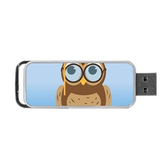 Read Owl Book Owl Glasses Read Portable Usb Flash (one Side) by Nexatart