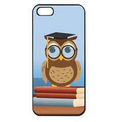 Read Owl Book Owl Glasses Read Apple Iphone 5 Seamless Case (black) by Nexatart