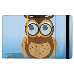 Read Owl Book Owl Glasses Read Apple Ipad 2 Flip Case by Nexatart