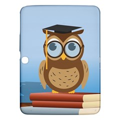 Read Owl Book Owl Glasses Read Samsung Galaxy Tab 3 (10 1 ) P5200 Hardshell Case