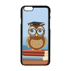 Read Owl Book Owl Glasses Read Apple Iphone 6/6s Black Enamel Case by Nexatart