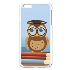 Read Owl Book Owl Glasses Read Apple Iphone 6 Plus/6s Plus Enamel White Case by Nexatart