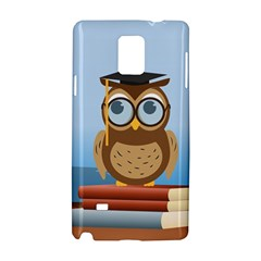 Read Owl Book Owl Glasses Read Samsung Galaxy Note 4 Hardshell Case by Nexatart