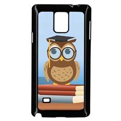 Read Owl Book Owl Glasses Read Samsung Galaxy Note 4 Case (black)