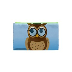 Read Owl Book Owl Glasses Read Cosmetic Bag (xs) by Nexatart