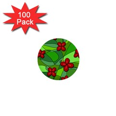 Flowers 1  Mini Buttons (100 Pack)  by Valentinaart