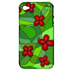 Flowers Apple Iphone 4/4s Hardshell Case (pc+silicone) by Valentinaart