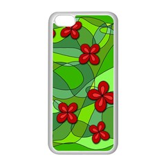 Flowers Apple Iphone 5c Seamless Case (white) by Valentinaart