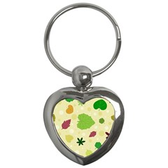 Leaves Pattern Key Chains (heart)