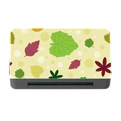 Leaves Pattern Memory Card Reader with CF by Nexatart