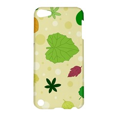 Leaves Pattern Apple Ipod Touch 5 Hardshell Case by Nexatart
