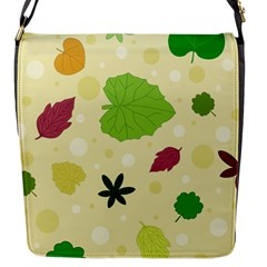 Leaves Pattern Flap Messenger Bag (s)