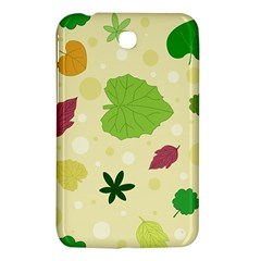 Leaves Pattern Samsung Galaxy Tab 3 (7 ) P3200 Hardshell Case  by Nexatart