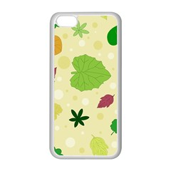 Leaves Pattern Apple Iphone 5c Seamless Case (white)