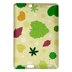 Leaves Pattern Amazon Kindle Fire Hd (2013) Hardshell Case