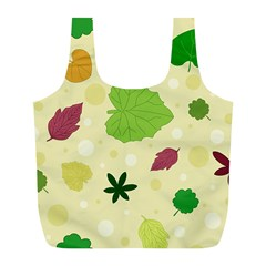 Leaves Pattern Full Print Recycle Bags (l)