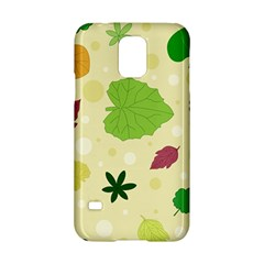 Leaves Pattern Samsung Galaxy S5 Hardshell Case  by Nexatart
