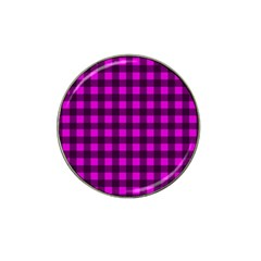 Magenta And Black Plaid Pattern Hat Clip Ball Marker (4 Pack) by Valentinaart