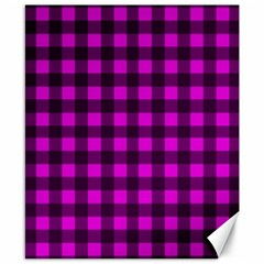 Magenta And Black Plaid Pattern Canvas 8  X 10  by Valentinaart