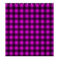 Magenta And Black Plaid Pattern Shower Curtain 66  X 72  (large)  by Valentinaart