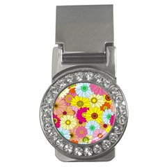 Floral Background Money Clips (CZ)  by Nexatart
