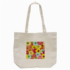 Floral Background Tote Bag (cream) by Nexatart