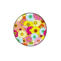 Floral Background Hat Clip Ball Marker (10 pack) by Nexatart