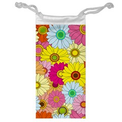 Floral Background Jewelry Bag