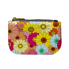 Floral Background Mini Coin Purses by Nexatart