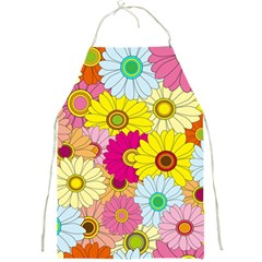 Floral Background Full Print Aprons
